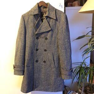 Scotch & Soda Double Breasted Wool Blend Coat L